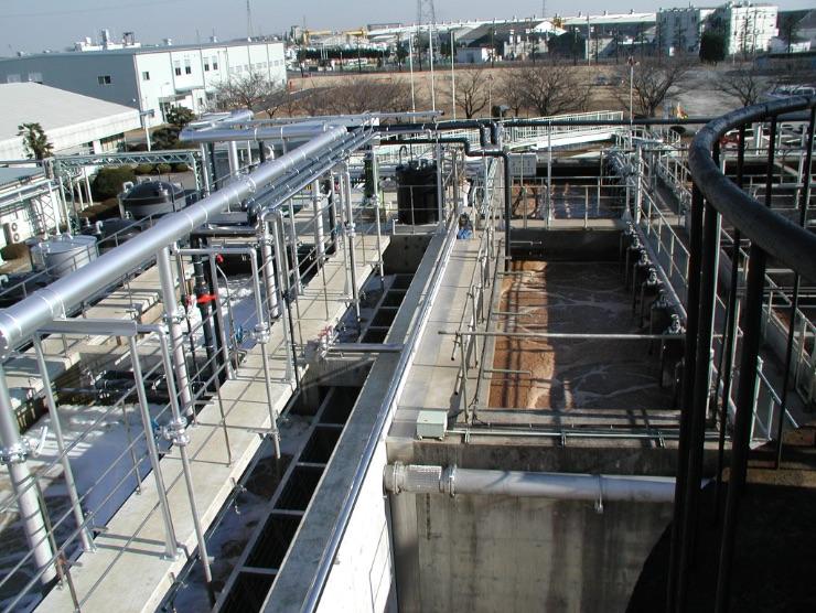 アイオンの廃水処理設備