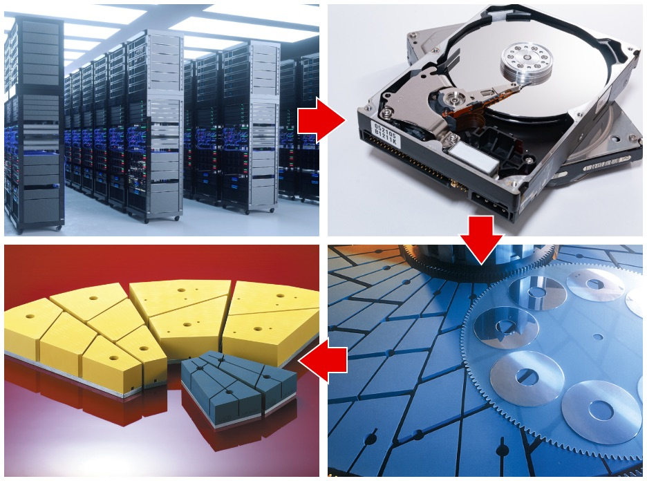 パソコン、データセンターとクリスタル砥石